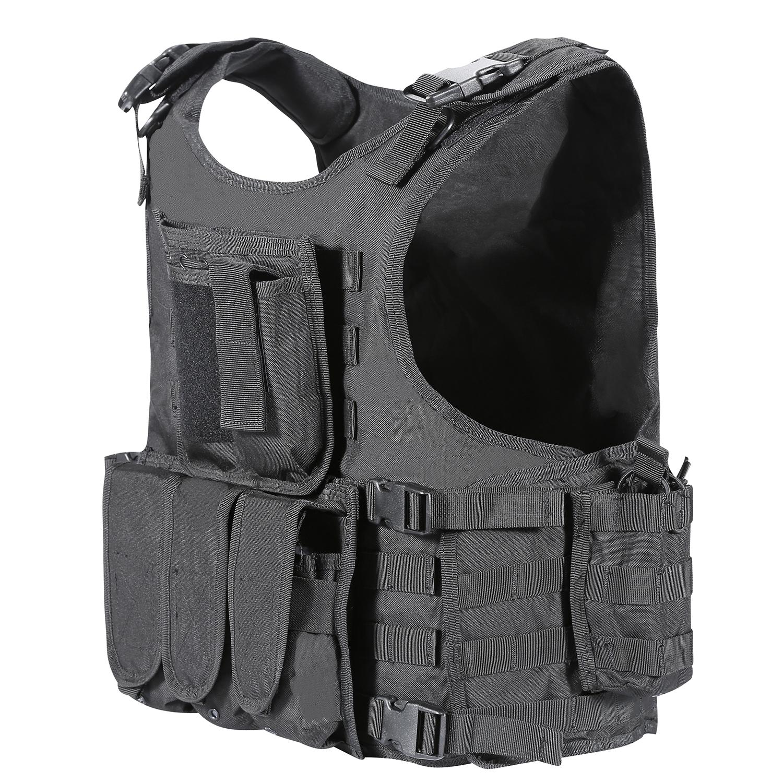 Gilet tactique yakeda avec attache poche MOLLE veste dintervention police